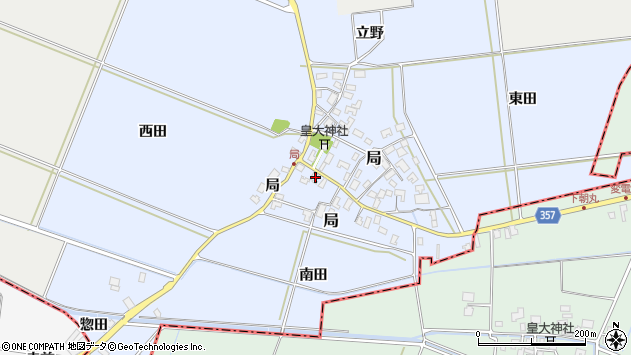 山形県酒田市局局26周辺の地図