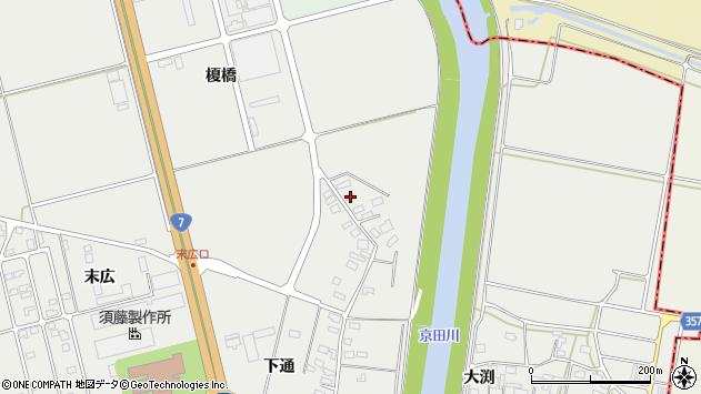 山形県酒田市広野下通143周辺の地図