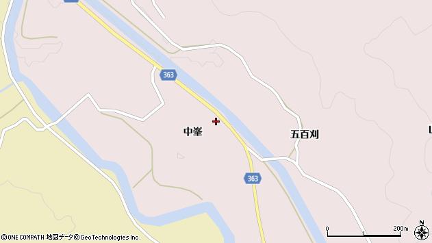 山形県酒田市山元中峯36周辺の地図