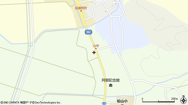 山形県酒田市山寺宅地224周辺の地図