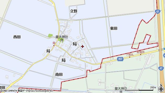 山形県酒田市局局12周辺の地図