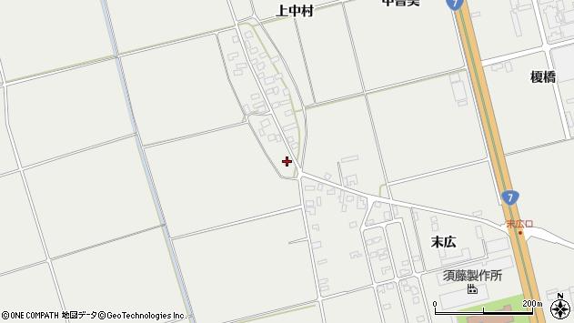 山形県酒田市広野上中村83周辺の地図