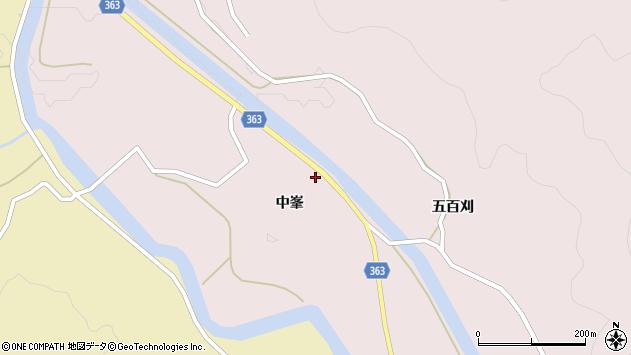 山形県酒田市山元中峯37周辺の地図