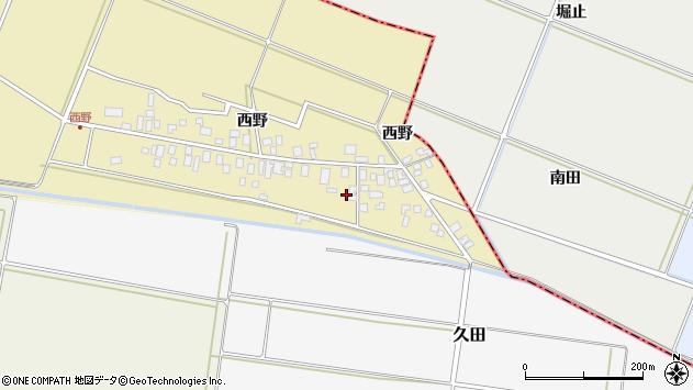 山形県東田川郡庄内町西野西野43周辺の地図