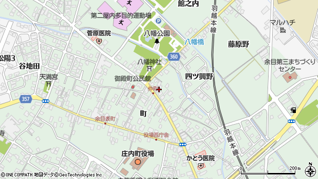 山形県東田川郡庄内町余目町88周辺の地図