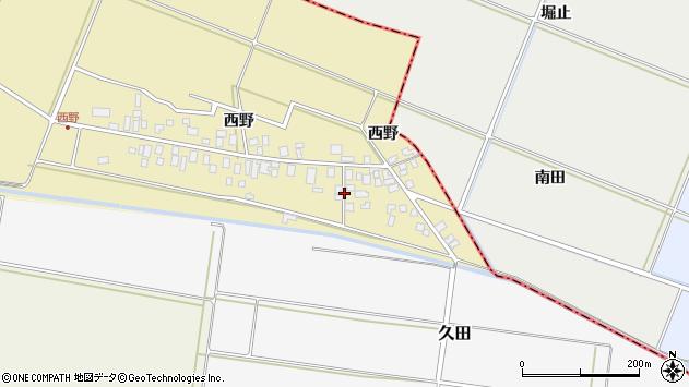 山形県東田川郡庄内町西野西野41周辺の地図
