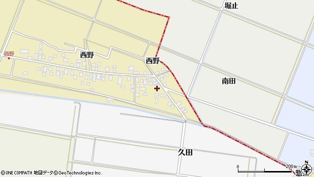 山形県東田川郡庄内町西野西野19周辺の地図