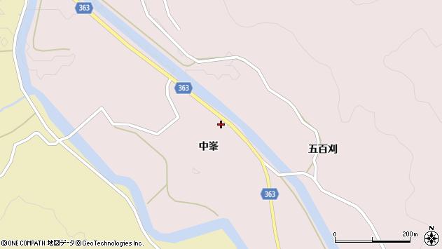 山形県酒田市山元中峯38周辺の地図