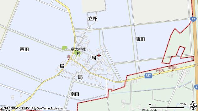 山形県酒田市局局14周辺の地図