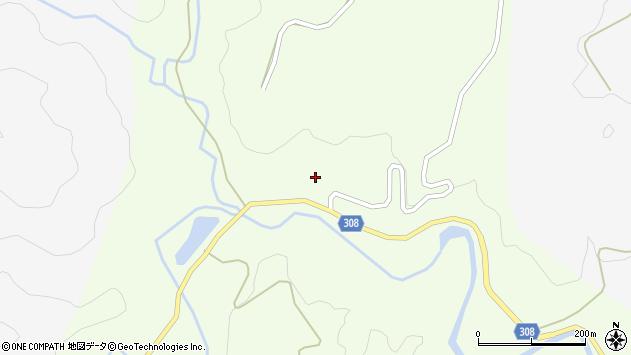 山形県最上郡鮭川村曲川大芦沢周辺の地図