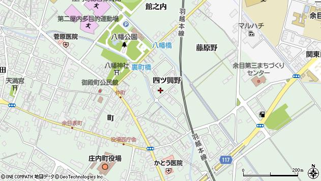 山形県東田川郡庄内町余目四ツ興野109周辺の地図