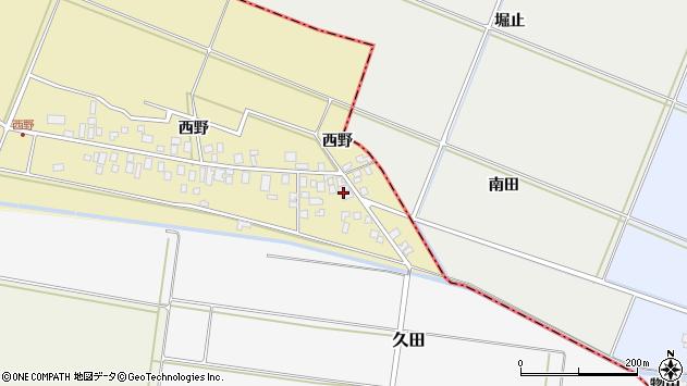 山形県東田川郡庄内町西野西野18周辺の地図