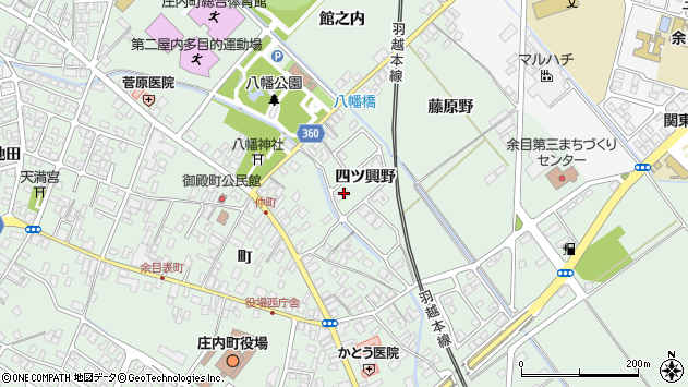 山形県東田川郡庄内町余目四ツ興野100周辺の地図