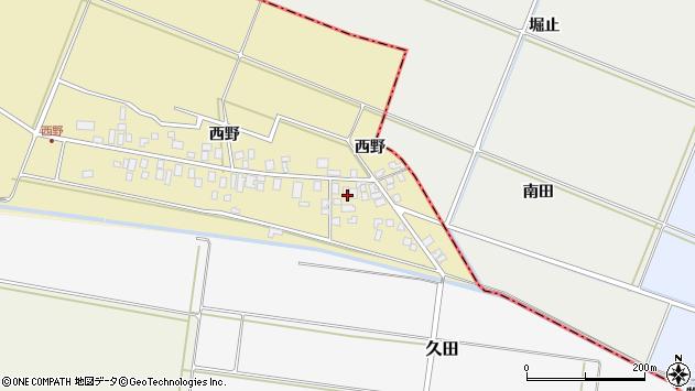 山形県東田川郡庄内町西野西野30周辺の地図