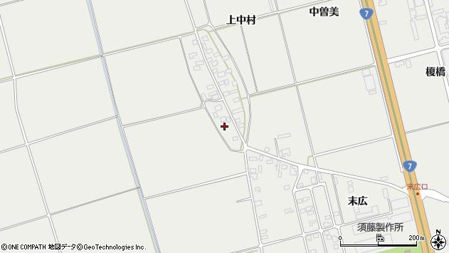山形県酒田市広野上中村105周辺の地図