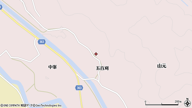 山形県酒田市山元五百刈74周辺の地図