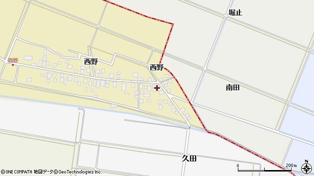 山形県東田川郡庄内町西野西野17周辺の地図