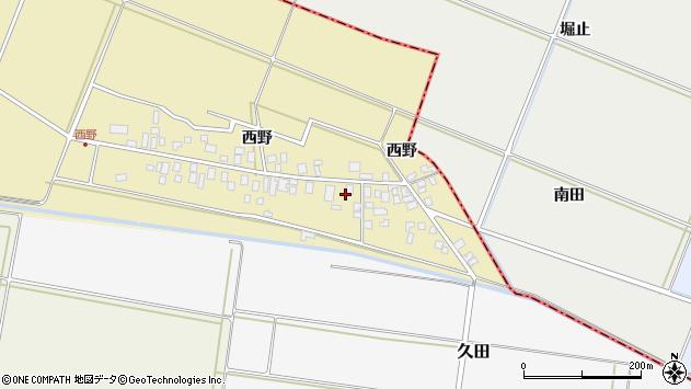 山形県東田川郡庄内町西野西野45周辺の地図
