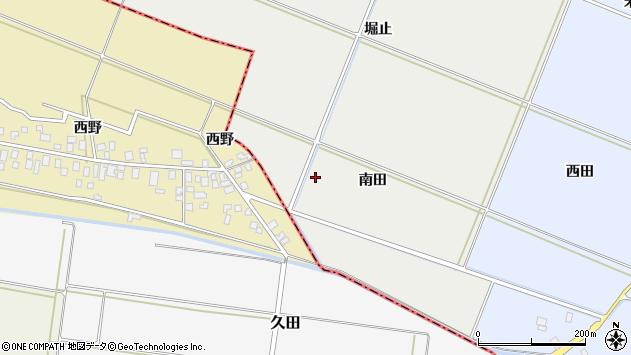 山形県酒田市門田南田周辺の地図