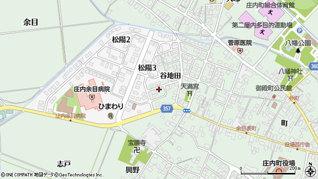 山形県東田川郡庄内町余目谷地田53周辺の地図