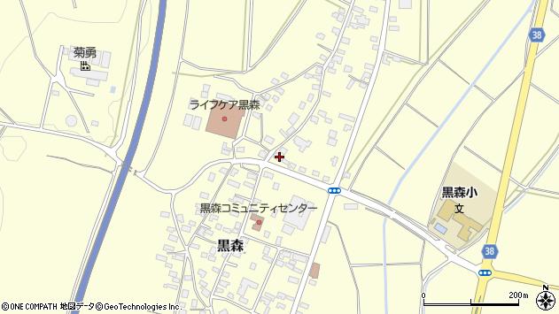 山形県酒田市黒森己周辺の地図