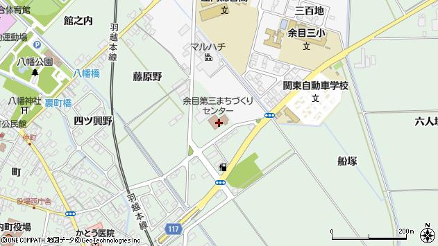 山形県東田川郡庄内町余目藤原野3周辺の地図