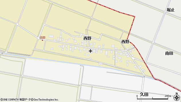 山形県東田川郡庄内町西野西野72周辺の地図