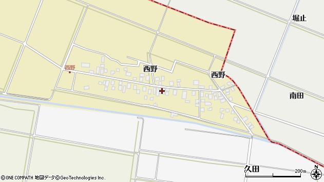山形県東田川郡庄内町西野西野69周辺の地図