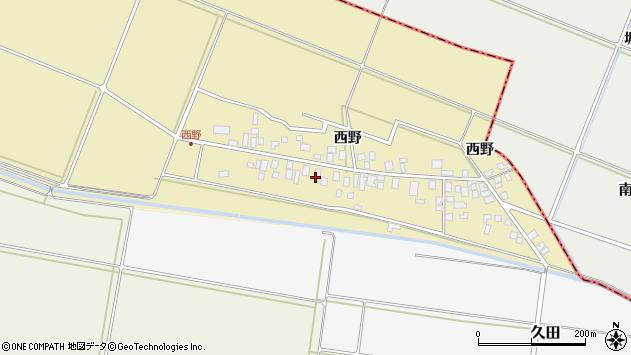 山形県東田川郡庄内町西野西野94周辺の地図