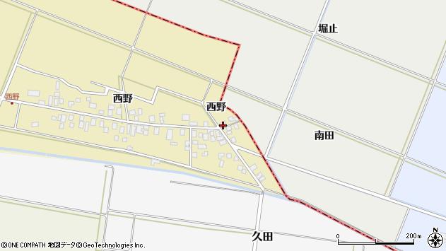 山形県東田川郡庄内町西野西野1周辺の地図