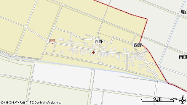 山形県東田川郡庄内町西野西野90周辺の地図