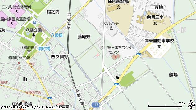 山形県東田川郡庄内町余目藤原野34周辺の地図