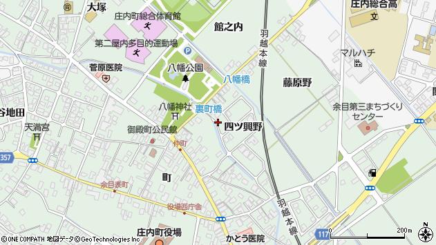 山形県東田川郡庄内町余目四ツ興野周辺の地図