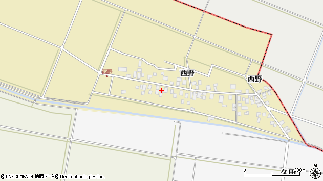 山形県東田川郡庄内町西野西野99周辺の地図