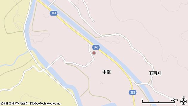 山形県酒田市山元中峯57周辺の地図
