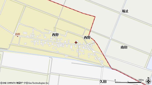 山形県東田川郡庄内町西野西野38周辺の地図
