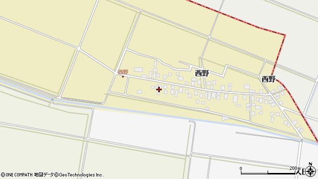 山形県東田川郡庄内町西野周辺の地図