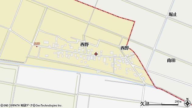 山形県東田川郡庄内町西野西野58周辺の地図
