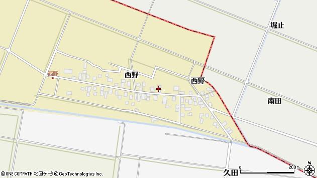 山形県東田川郡庄内町西野西野55周辺の地図