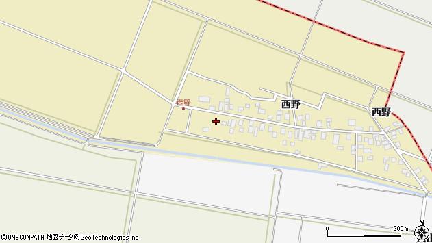 山形県東田川郡庄内町西野西野118周辺の地図