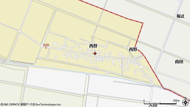 山形県東田川郡庄内町西野西野73周辺の地図