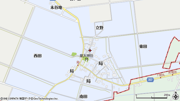 山形県酒田市局局46周辺の地図