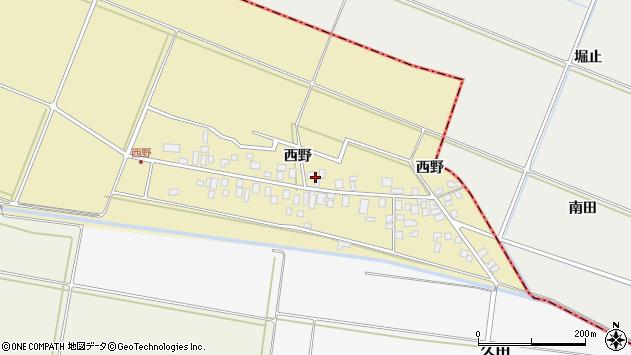 山形県東田川郡庄内町西野西野68周辺の地図