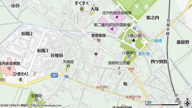 山形県東田川郡庄内町余目町201周辺の地図