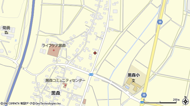 山形県酒田市黒森鏥32周辺の地図