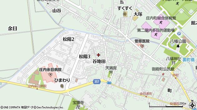山形県東田川郡庄内町余目谷地田21周辺の地図