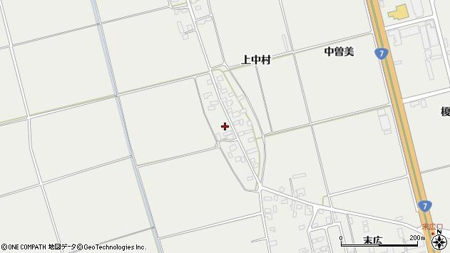 山形県酒田市広野上中村111周辺の地図