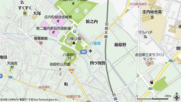 山形県東田川郡庄内町余目四ツ興野31周辺の地図