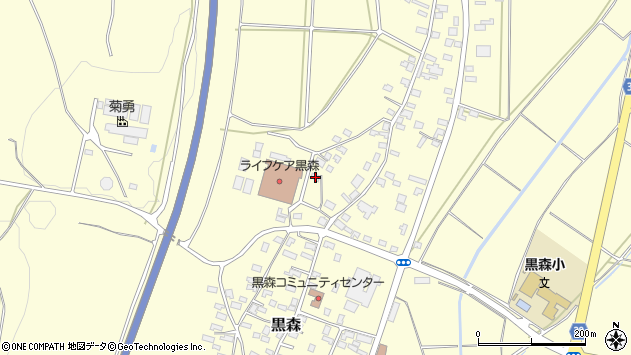 山形県酒田市黒森葭葉山周辺の地図