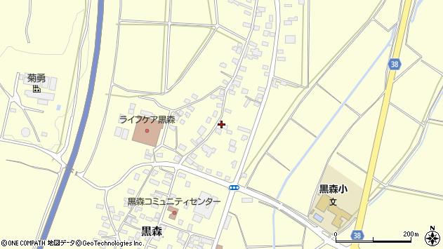 山形県酒田市黒森谷地中27周辺の地図